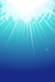 Sunlight seen from the seabed