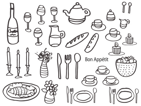 Tableware monochrome