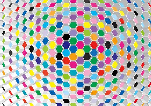 Honeycomb wallpaper hexagonal pattern solid
