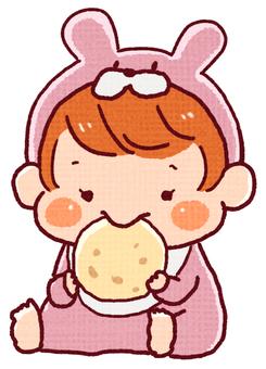 寶寶吃甜食(女孩)