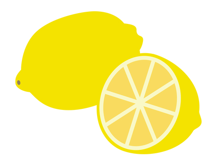 Simple fruit lemon (cross section)