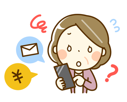 Senior woman smartphone trouble