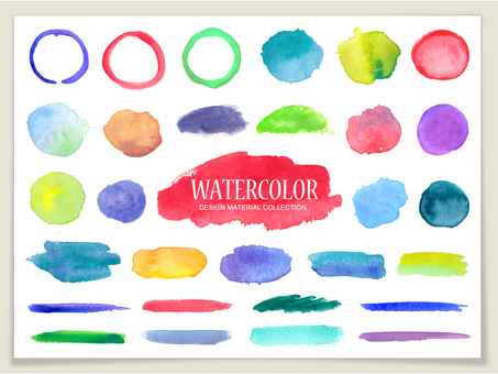 Water color material 【Frame / brush set】