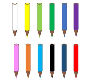Colored pencils 12 color set