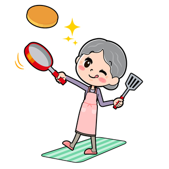 Senior Women Purple Cuisine Hot Cake