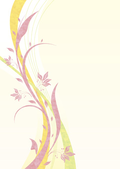Background design / Flower pattern material