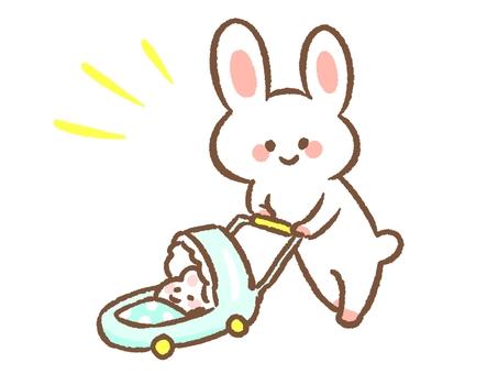 Usagi and stroller