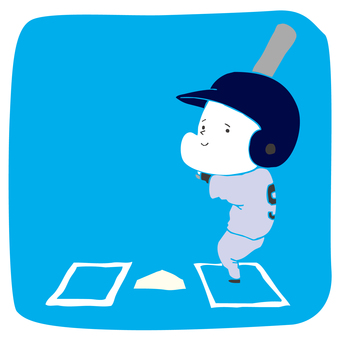 Man standing in batter's box