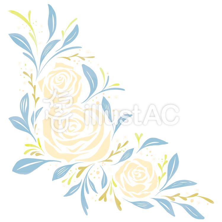 バラのフレーム1・寒色