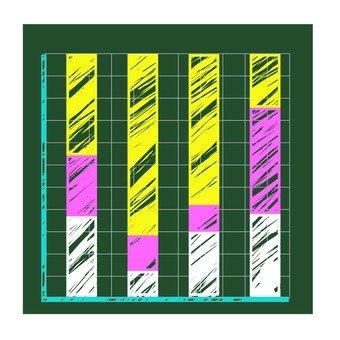 Blackboard vertical bar chart 2