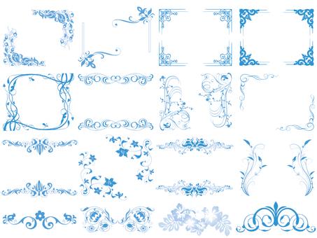 Frame light blue set