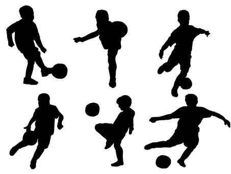Soccer boy's silhouette