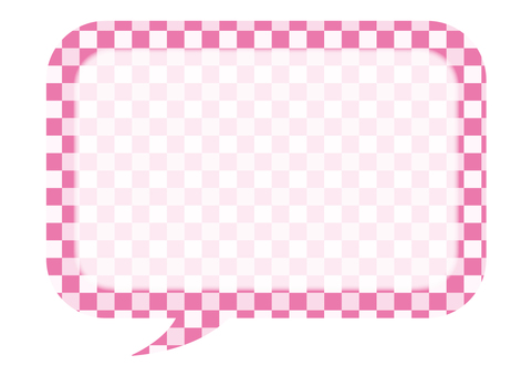 Checkered balloon (pink 1)