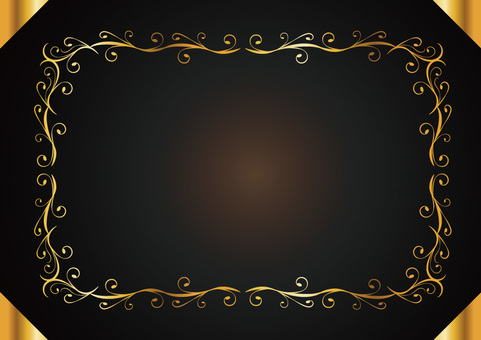 Decorative ruled frame 003_ gold