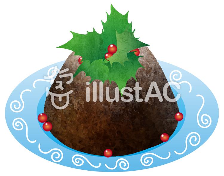 【フリーイラスト素材】クリスマスプディング
