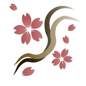 흩 날리는 벚꽃