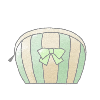 Cosmetics _ Pouch (Green)