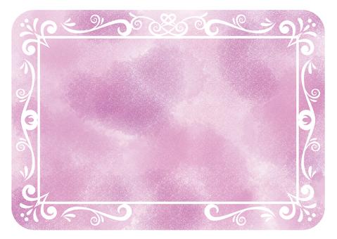 古董框架水彩紫色圓角