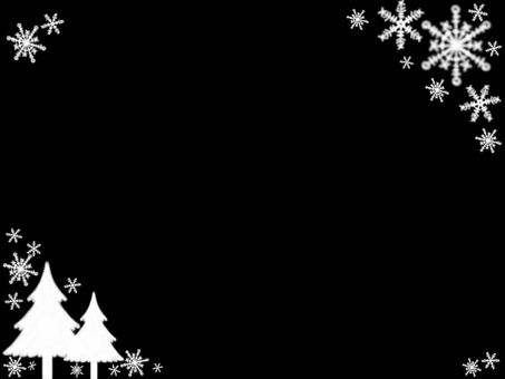Christmas frame (black & white)