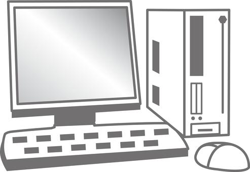 Free illustration material Desktop computer PC