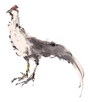 간지 일러스트 - 닭 -