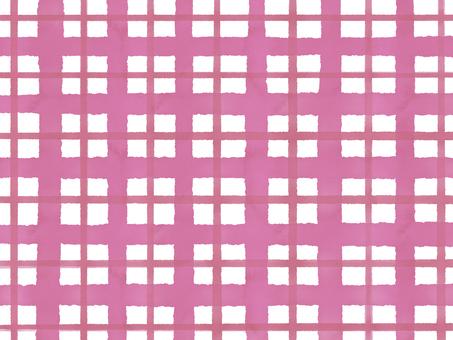 Watercolor check pink