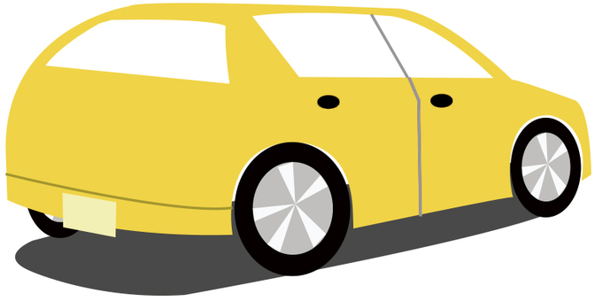 Yellow car