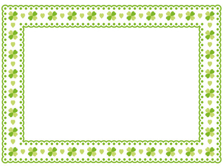 Clover pattern lace frame 2