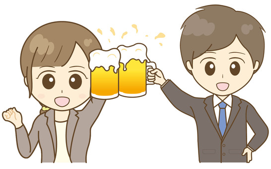 Toast with draft beer !! suit men and women