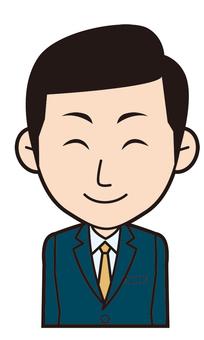 Male employee (Nikkori)