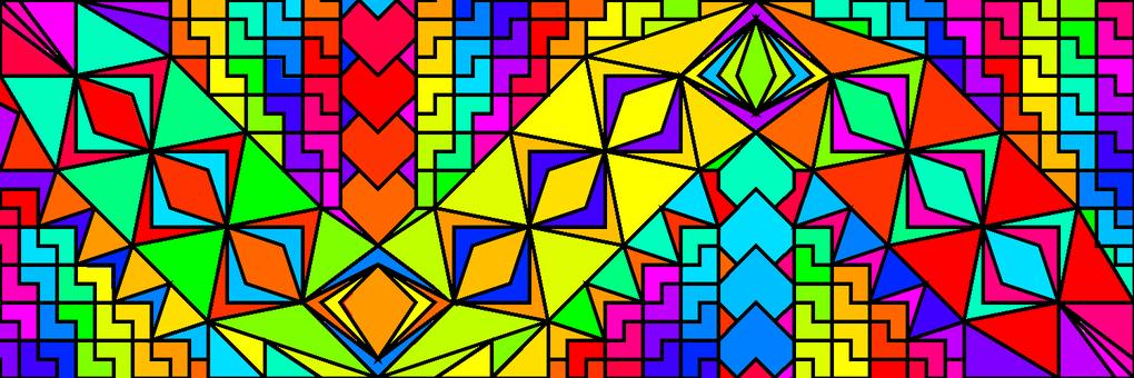 Geometric colorful