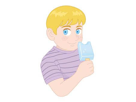 A boy who eats ice candy