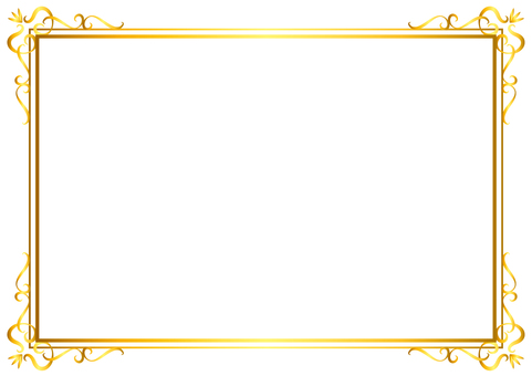 Frame _ corner decoration 2 _ gold