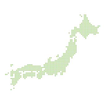일본지도 픽토 녹색