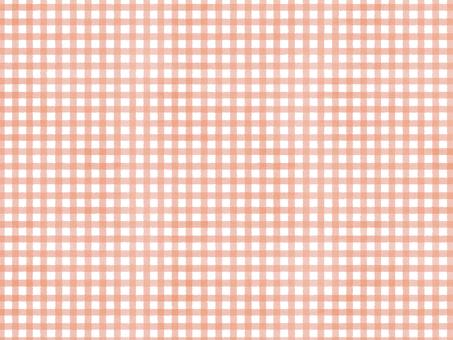 水彩チェック(細)ピンク