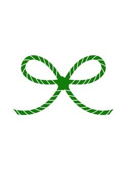Flower knot water draw (green)