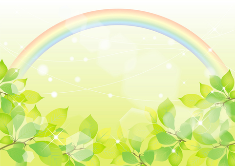 Rainbow and fresh green frame 4
