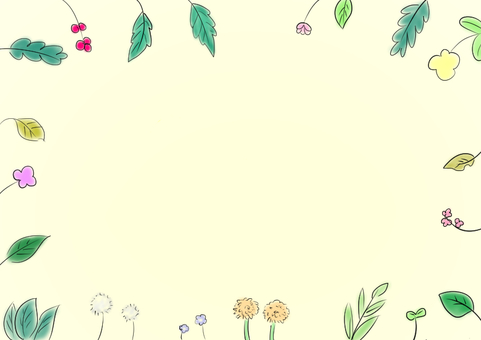 식물 꽃 일러스트 프레임