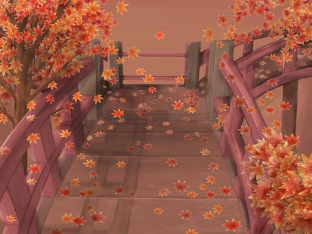Autumn leaves - Japanese style bridge