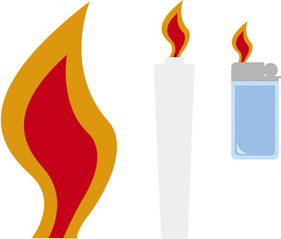 Fire · flame (candle · writer)