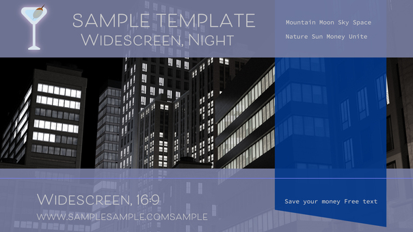 Business Template Building Street Example 16: 9