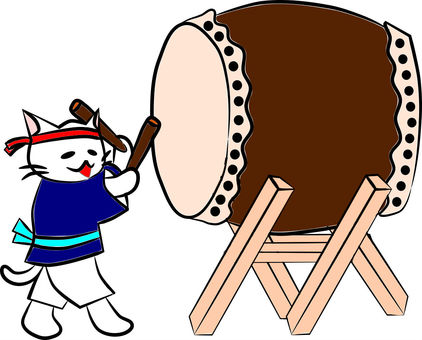 Nyanko Japanese drum