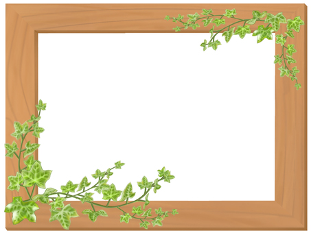 Wood frame and ivy