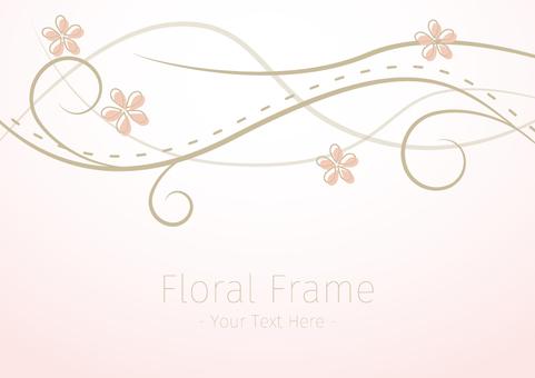 Spring color floral frame