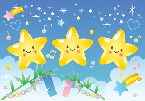 Tanabata star illustration