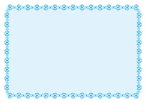 Frame - Flower ring - Blue