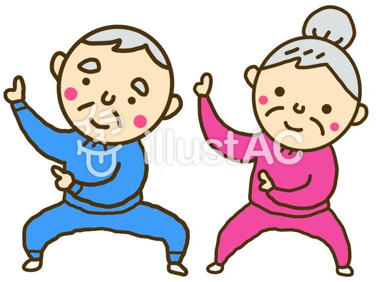 踊りを踊るおじいさんおばあさんイラスト No 無料イラストなら イラストac