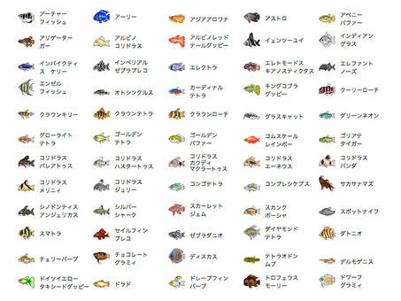 Tropical fish icon set 1