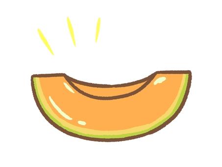 Cut melon orange