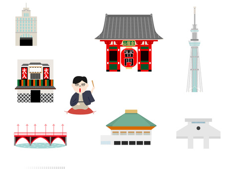 A tourist spot in Tokyo around Asakusa